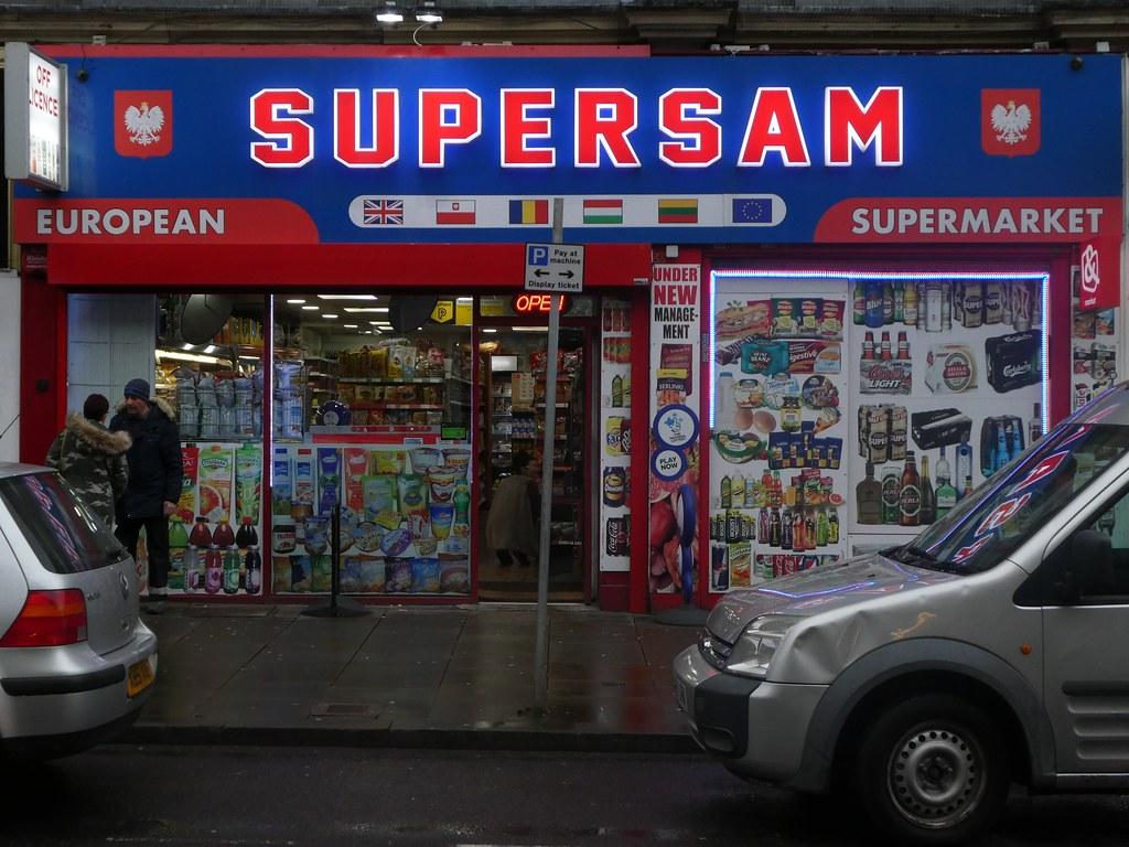 Supersam European supermarket, John William Street, Huddersfield